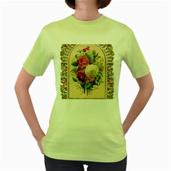 Ornate 1171145 1280 Women s Green T Shirt by vintage2030