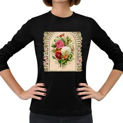 Ornate 1171145 1280 Women s Long Sleeve Dark T Shirt by vintage2030