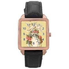 Easter 1225798 1280 Rose Gold Leather Watch