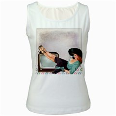 Vintage 1133810 1920 Women s White Tank Top