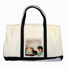 Vintage 1133810 1920 Two Tone Tote Bag