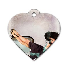 Vintage 1133810 1920 Dog Tag Heart (two Sides)