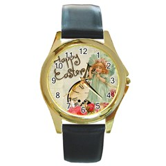 Easter 1225805 1280 Round Gold Metal Watch