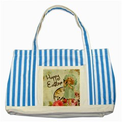 Easter 1225805 1280 Striped Blue Tote Bag