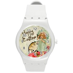 Easter 1225805 1280 Round Plastic Sport Watch (m)