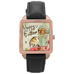 Easter 1225805 1280 Rose Gold Leather Watch