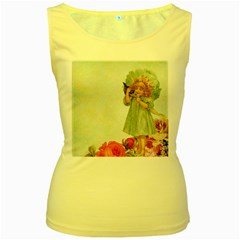 Vintage 1225887 1920 Women s Yellow Tank Top