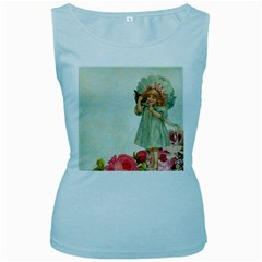 Vintage 1225887 1920 Women s Baby Blue Tank Top