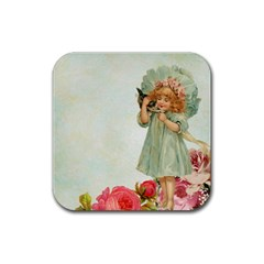 Vintage 1225887 1920 Rubber Square Coaster (4 Pack)