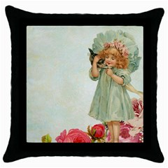 Vintage 1225887 1920 Throw Pillow Case (black)