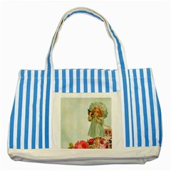 Vintage 1225887 1920 Striped Blue Tote Bag