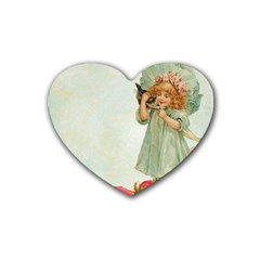 Vintage 1225887 1920 Heart Coaster (4 Pack)
