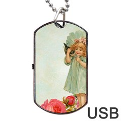 Vintage 1225887 1920 Dog Tag Usb Flash (two Sides)