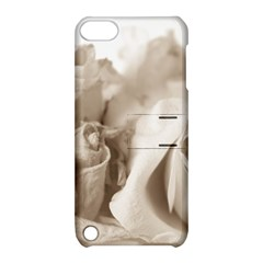 Vintage Rose Shabby Chic Background Apple Ipod Touch 5 Hardshell Case With Stand by Sapixe