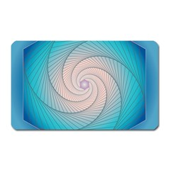 Decorative Background Blue Magnet (rectangular)
