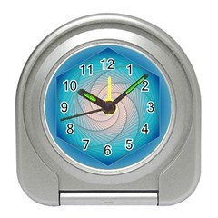 Decorative Background Blue Travel Alarm Clock by Sapixe