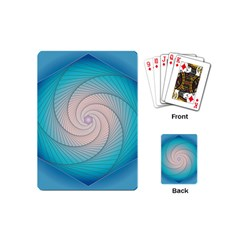 Decorative Background Blue Playing Cards (mini) by Sapixe