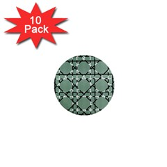 Pattern Graphics Figure Line Glass 1  Mini Buttons (10 Pack)