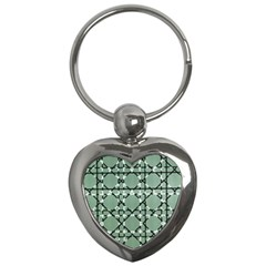 Pattern Graphics Figure Line Glass Key Chains (heart)  by Sapixe