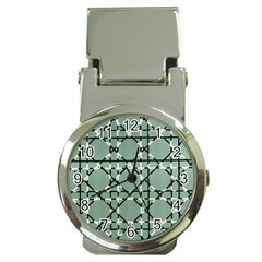 Pattern Graphics Figure Line Glass Money Clip Watches by Sapixe