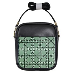Pattern Graphics Figure Line Glass Girls Sling Bag by Sapixe