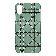 Pattern Graphics Figure Line Glass Apple Iphone X Hardshell Case by Sapixe