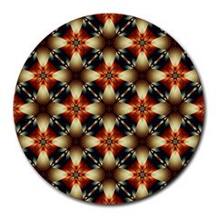 Kaleidoscope Image Background Round Mousepads by Sapixe