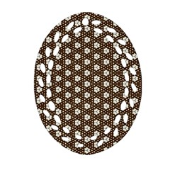 Texture Background Pattern Oval Filigree Ornament (two Sides) by Sapixe