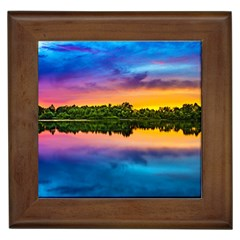 Sunset Color Evening Sky Evening Framed Tiles