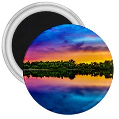 Sunset Color Evening Sky Evening 3  Magnets by Sapixe