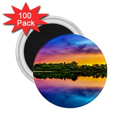 Sunset Color Evening Sky Evening 2 25  Magnets (100 Pack)  by Sapixe