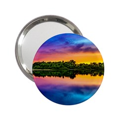 Sunset Color Evening Sky Evening 2 25  Handbag Mirrors by Sapixe