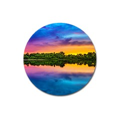 Sunset Color Evening Sky Evening Magnet 3  (round)