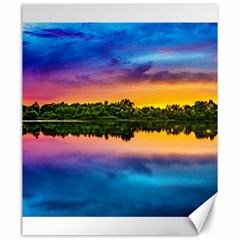 Sunset Color Evening Sky Evening Canvas 20  X 24
