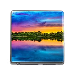 Sunset Color Evening Sky Evening Memory Card Reader (square 5 Slot) by Sapixe