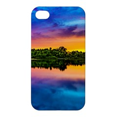 Sunset Color Evening Sky Evening Apple Iphone 4/4s Premium Hardshell Case
