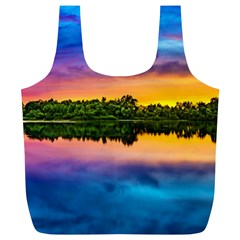 Sunset Color Evening Sky Evening Full Print Recycle Bag (xl)