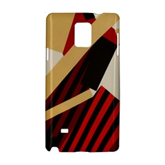 Fabric Textile Design Samsung Galaxy Note 4 Hardshell Case by Sapixe
