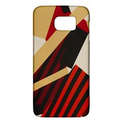 Fabric Textile Design Samsung Galaxy S6 Hardshell Case  by Sapixe