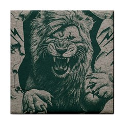 Angry Male Lion Pattern Graphics Kazakh Al Fabric Face Towel
