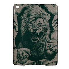 Angry Male Lion Pattern Graphics Kazakh Al Fabric Ipad Air 2 Hardshell Cases by Sapixe