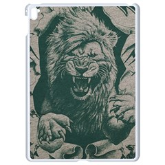 Angry Male Lion Pattern Graphics Kazakh Al Fabric Apple Ipad Pro 9 7   White Seamless Case