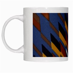 Colors Fabric Abstract Textile White Mugs