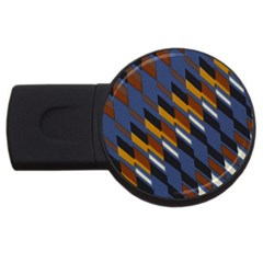 Colors Fabric Abstract Textile Usb Flash Drive Round (2 Gb)