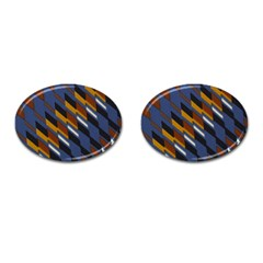 Colors Fabric Abstract Textile Cufflinks (oval) by Sapixe