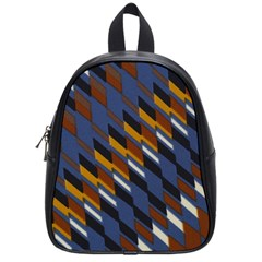 Colors Fabric Abstract Textile School Bag (small) by Sapixe