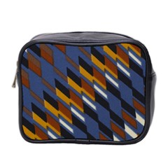 Colors Fabric Abstract Textile Mini Toiletries Bag (two Sides)