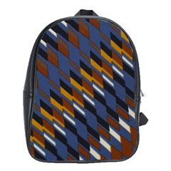 Colors Fabric Abstract Textile School Bag (xl) by Sapixe