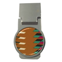 Fabric Textile Texture Abstract Money Clips (round)