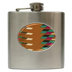 Fabric Textile Texture Abstract Hip Flask (6 Oz)